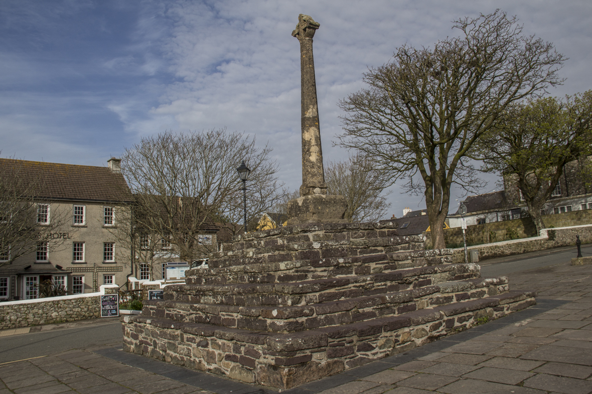 Market Cross in the centre of St David's, Pembrokeshire in Wales    5921