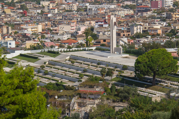 Martyrs Cemetery in Vlore, Albania