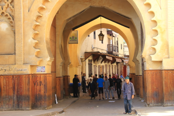 Mellah or Jewish Quarter in Fez Morocco