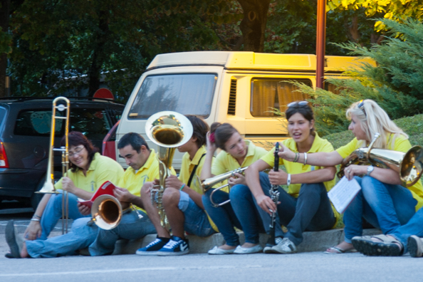 Members of the Praso band in Trentino, Italy