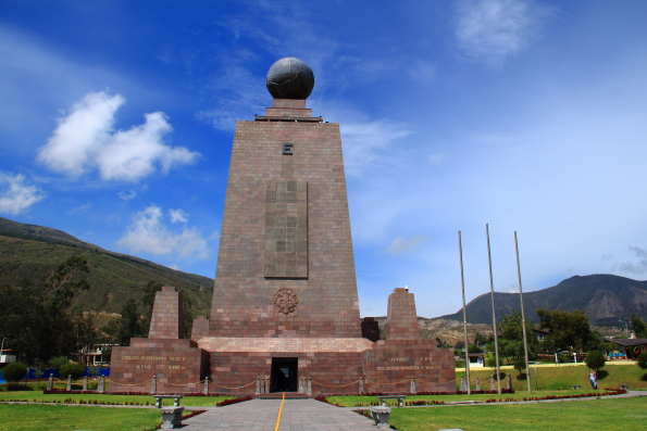 Middle of the World Monument near Quito in Ecuador