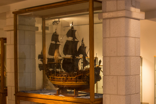 Model of the English ship the Victory in the Aquarium and Maritime Tradition Museum in Vodice in Croatia
