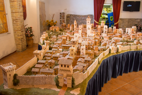 Model village of San Gimignano at San Gimignano 1300, Tuscany Italy