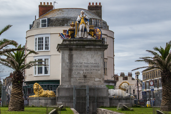Monument of King George III in Weymouth, Dorset, UK