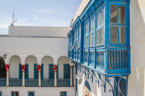 Moucharabieh at Bardo palace in Tunis, Tunisia