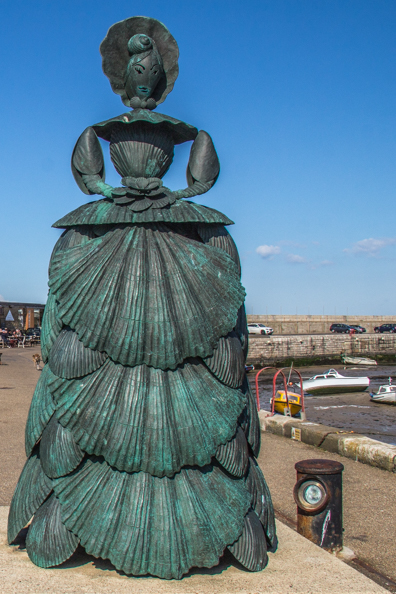 Mrs Booth on the Harbour Arm in Margate, Thanet in Kent