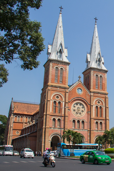 Notre Dame Cathedral in Ho Chi Minh City in Vietnam