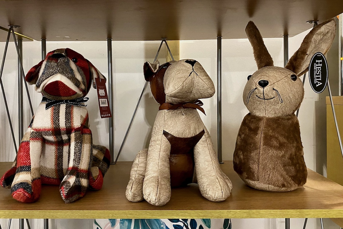 Novelty Doorstops at Compton Acres in Canford Cliffs, Dorset