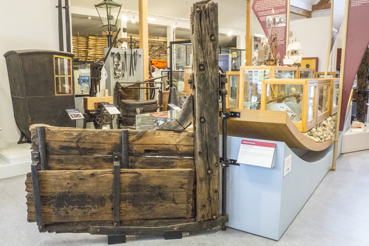 Old Wooden Rudder on Display in the Arundel Museum in Arundel    4243219