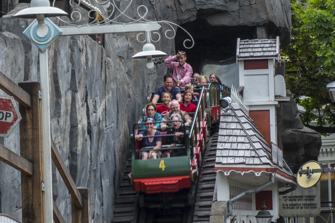 On the Roller Coaster at Tivoli Gardens in Copenhagen, Denmark  7224703