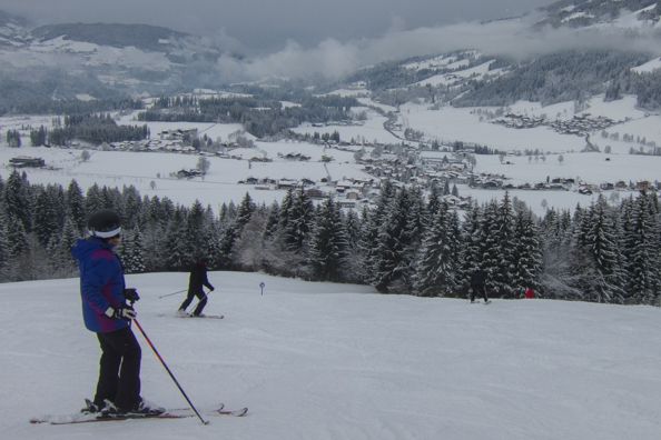On the slopes above Westendorf, Austria