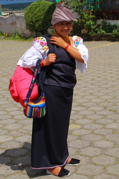 An Otavaleno girl in Ecuador