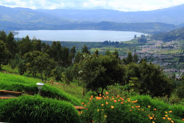 View from Sacha Ji near Otavalo in Ecuador