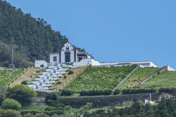 Our Lady of Peace Chapel above Vila Franca on São Miguel Island in the Azores