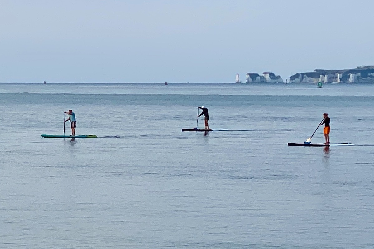 Paddle Boarders in Poole Harbour, Dorset