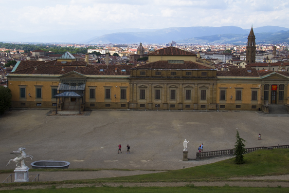 Palazzo Pitti from the Boboli Gardens in Florence, Tuscany