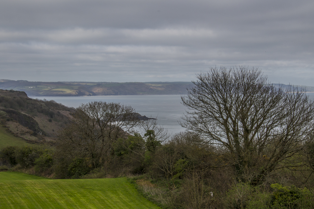 Panorama from Allen's View on the Coastal Path above Tenby Pembrokeshire, Wales  6434