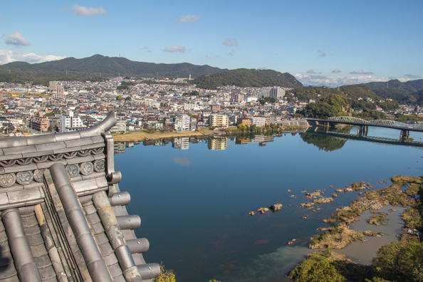 Panoramic view of Inuyama from Inuyama Castle in Japan