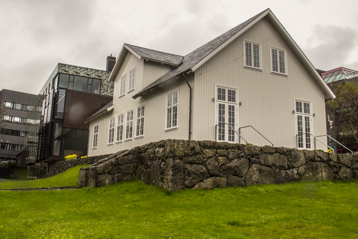 Parliament building in Tórshavn capital of the Faroe Islands7176