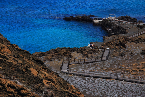 Path up to the lighthouse on Bartolome Island in the Galapapgos Islands