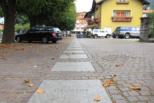 Special paving stones in Pinzolo