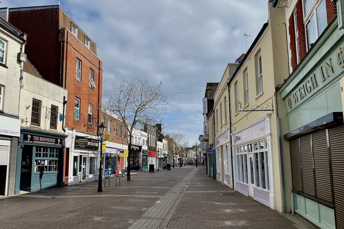 Poole High Street During Lockdown