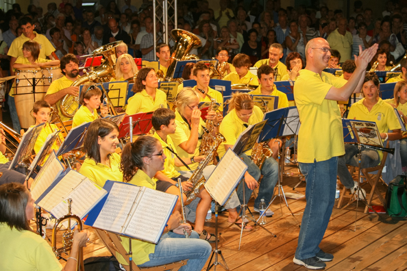 Praso band performing in Levico Terme in Trentino, Italy