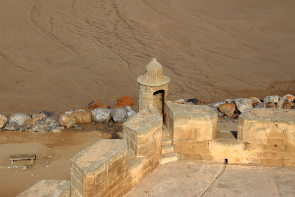 fortifications at the edge of the Kasbah Oudaia in Rabat Morocco
