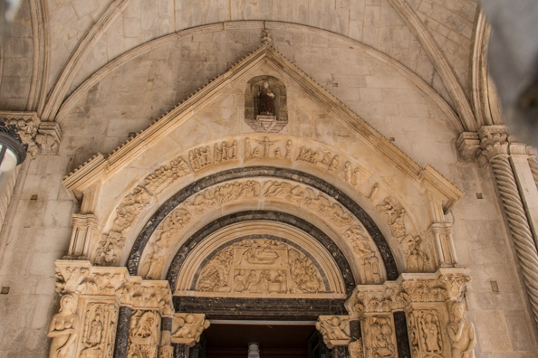Radovan's Portal, Cathedral of St Lawrence in Trogir, Croatia