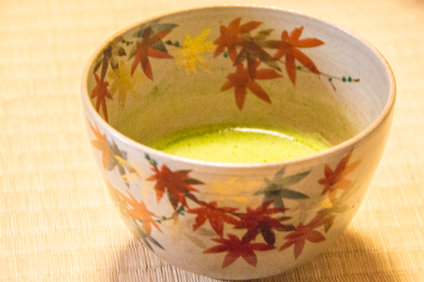 Real green tea at a tea ceremony in Uji, Japan