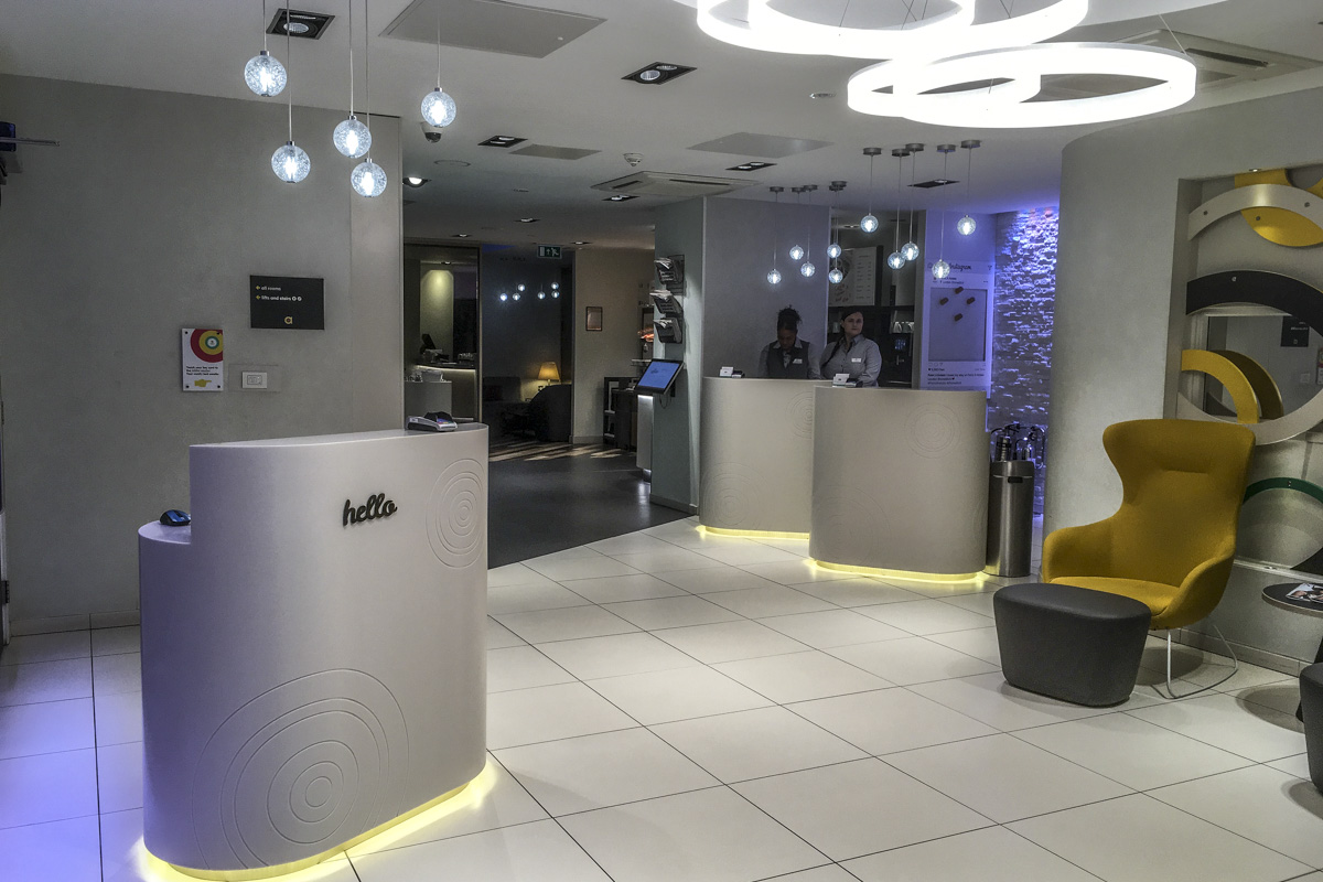 Reception at Point A Hotel in Shoreditch, London 8813