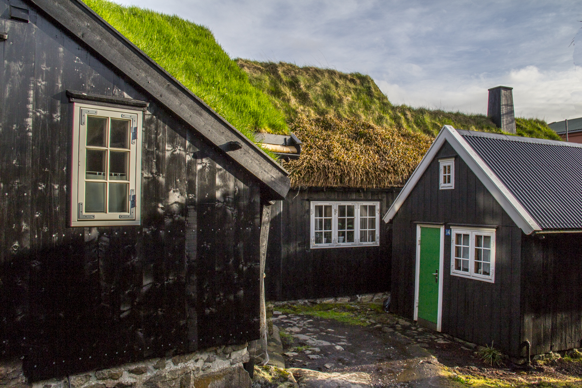 Restored houses in Undir Ryggi in  Tórshavn capital of the Faroe Islands7315