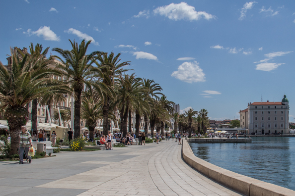Riva in Split, Croatia
