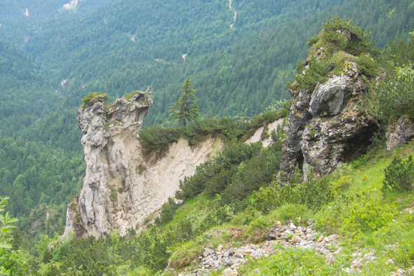 Rock formations on the Alpspitze, Garmisch-Partenkirchen in Bavaria