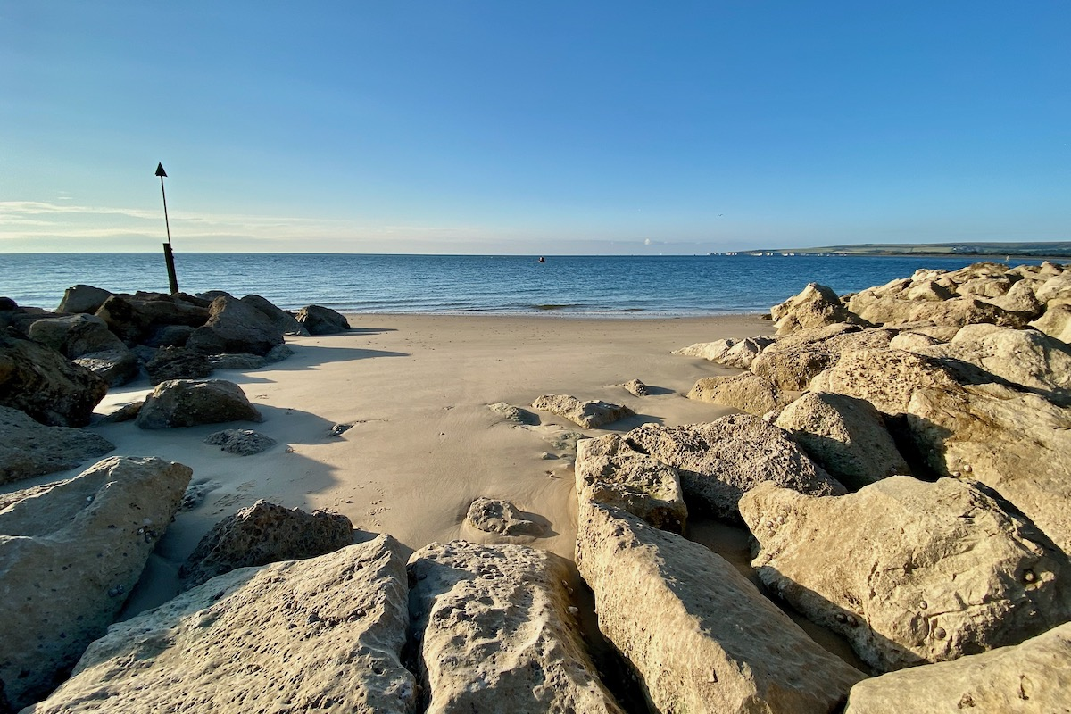 Rocky Cove on Sandbanks Beach, Dorset