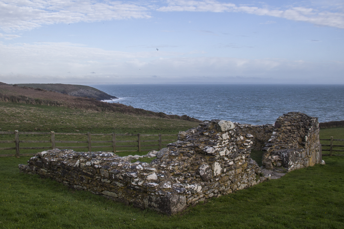 Ruins of the Chapel of St Non in St David's, Pembrokeshire in Wales    5988