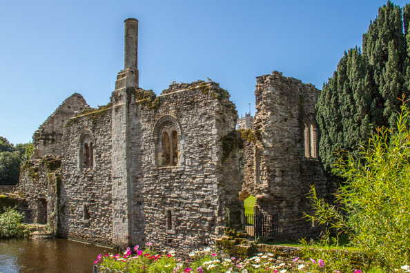 Ruins of the Norman House in Christchurch, Dorset UK