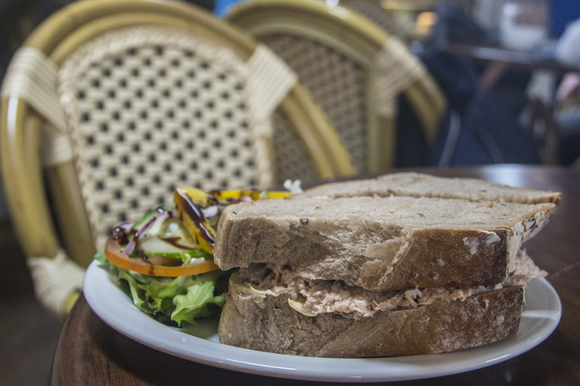 Rustic sandwich at ... in St David's, Pembrokeshire in Wales    5870
