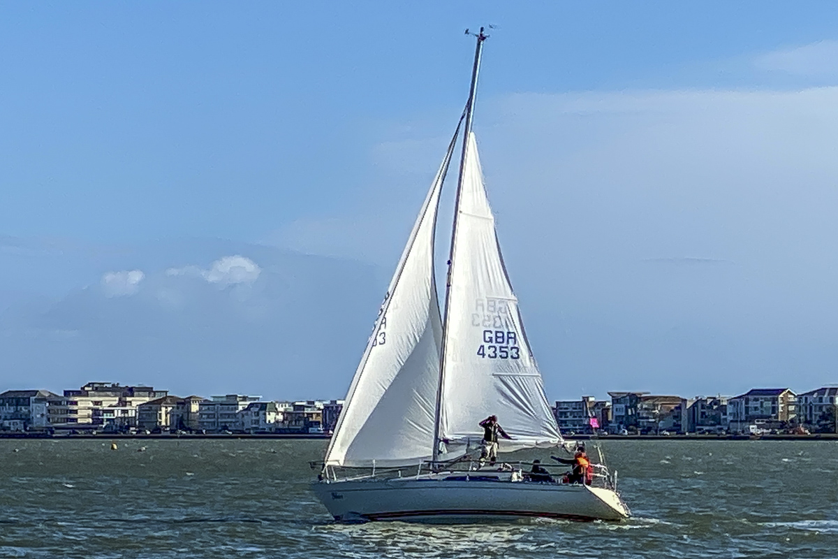Sailing into Poole Harbour in Dorset