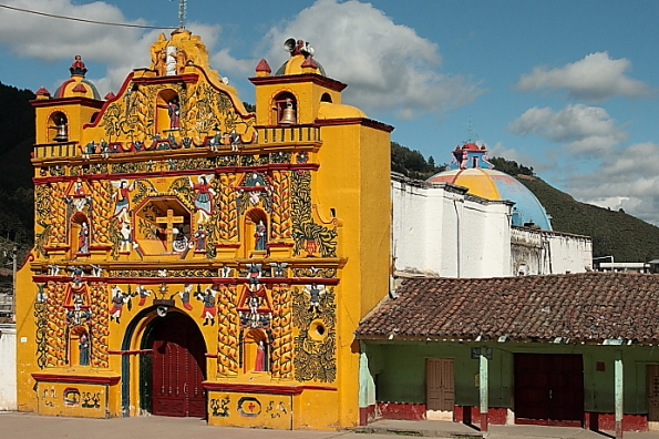 San Andrés Xecul temple in Guatemala