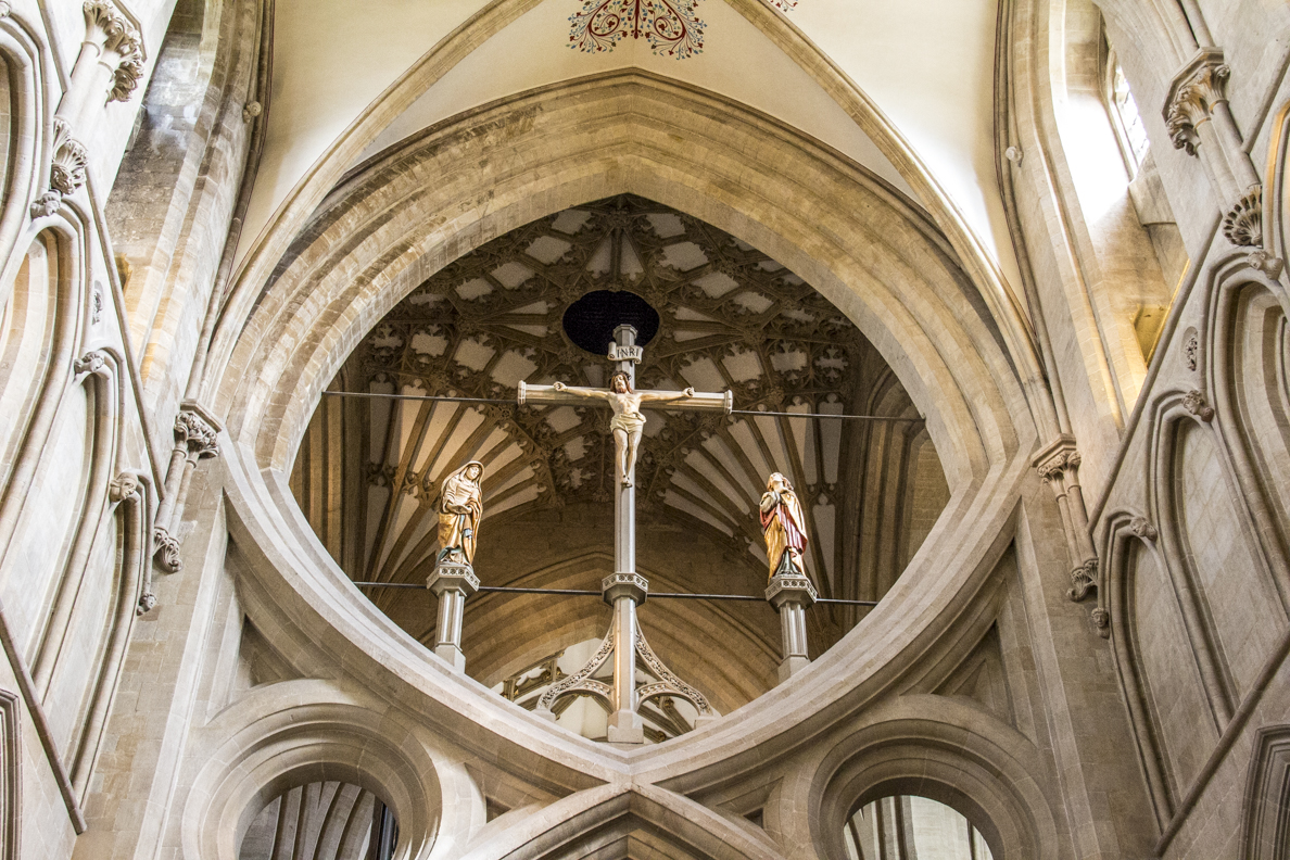 Scissor Arch in the Cathedral in Wells, Somerset, England   20185353