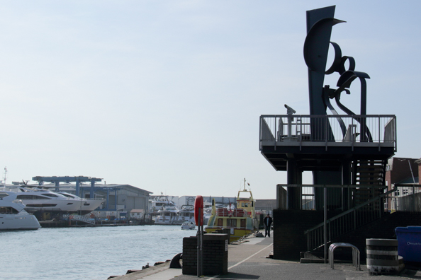 Sea Music sculpture on Poole Quay