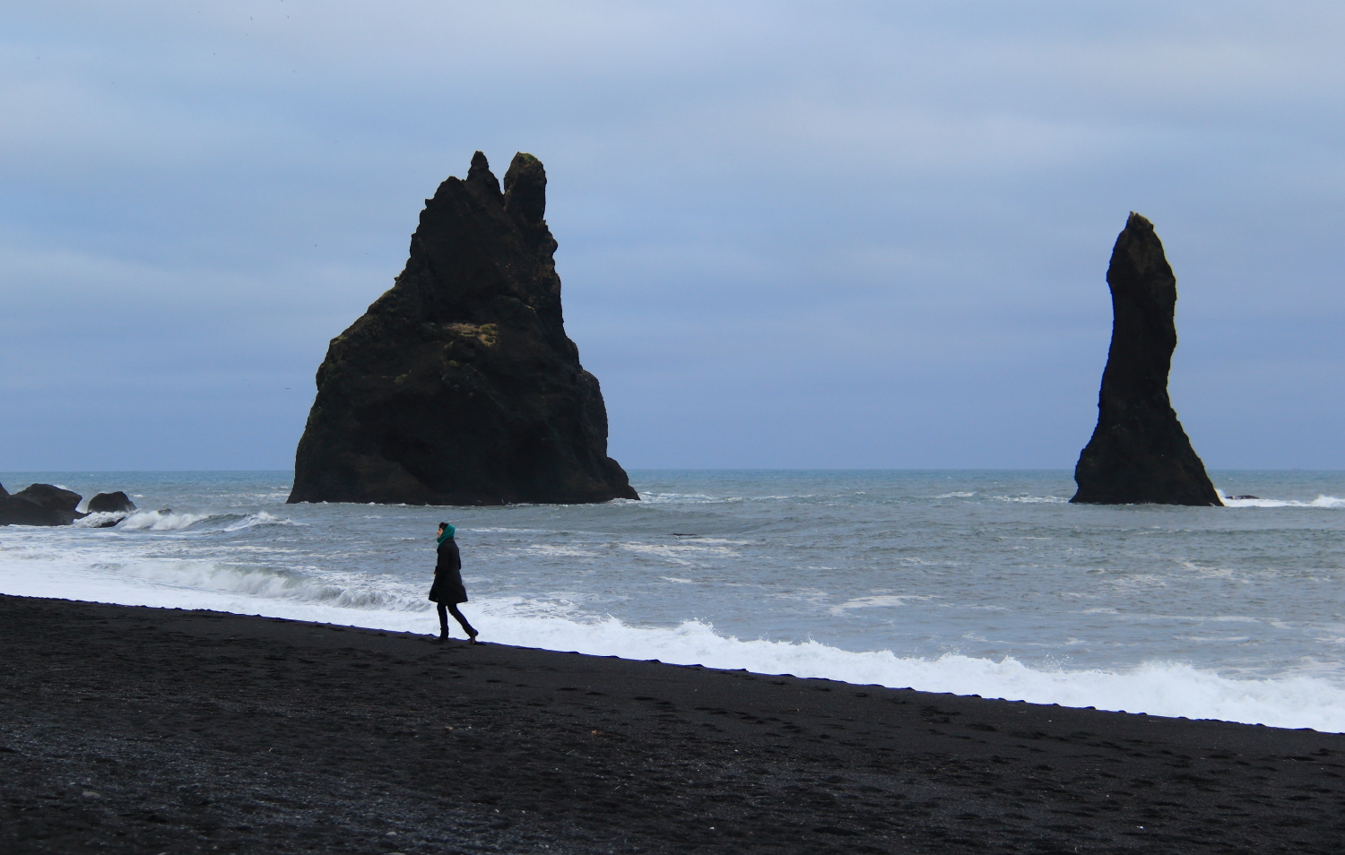 sea stacks at Vik, Iceland