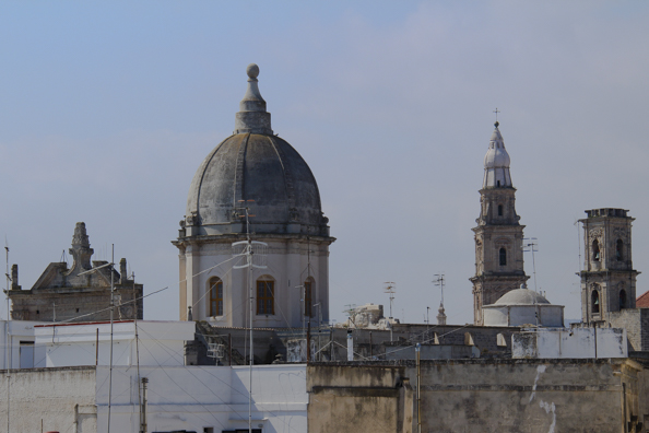 Skyline of the old town of Monopoli in Puglia, Italy -