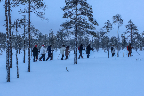 Snow Shoe Walking at Hotel Kalevala, Kuhmo, Finland