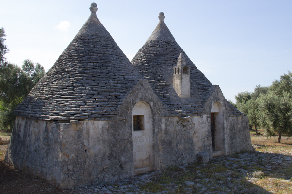 Some trulli in the countryside of Puglia, Italy