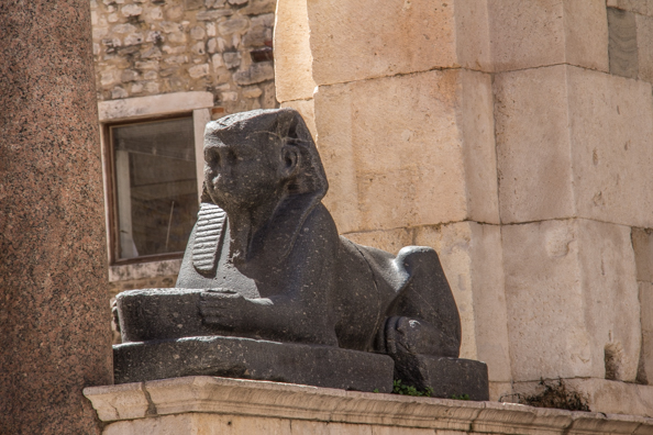 Sphinx on the Peristyle in Split, Croatia