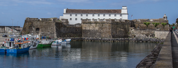 St Blaise Fort in Ponta Delgada on the Island of São Miguel in the Azores