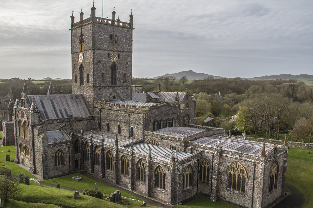 St David's Cathedral in St David's City, Pembrokeshire in Wales 5927