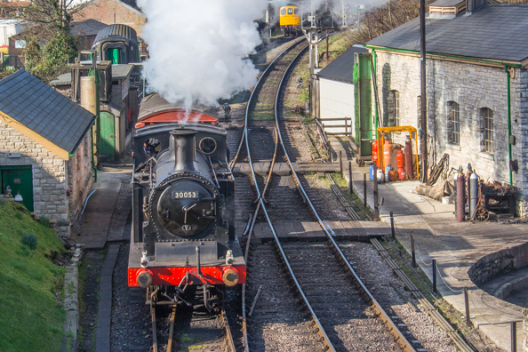 Steam Railway in Swanage in Dorset, UK